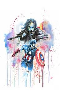 Superhero Wall Decor Etsy by Captain America Et Limpression Aquarelle Winter Soldier