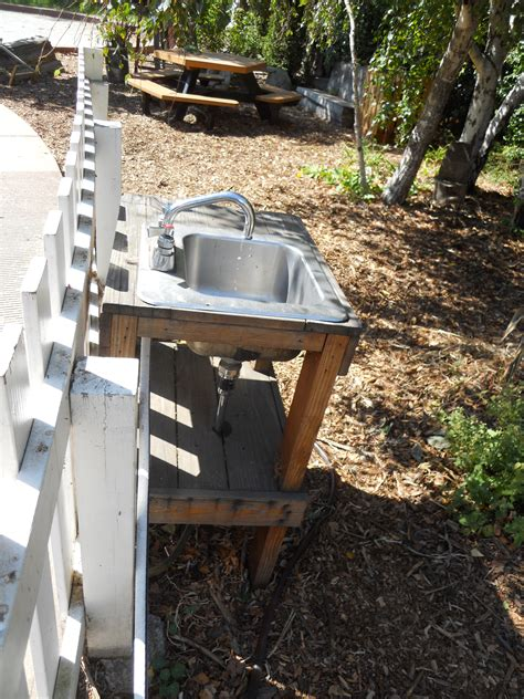 outdoor kitchen sinks ideas nine nifty ideas from san francisco green schoolyards edwords an outdoor sink with a simple hose