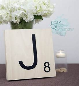 how to make giant scrabble tile table numbers With diy scrabble letters