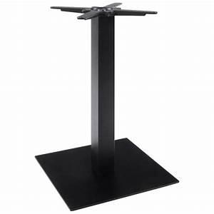 Pied De Table Metal Carré : pied de table m tal base carr legand noir vistadeco ~ Teatrodelosmanantiales.com Idées de Décoration