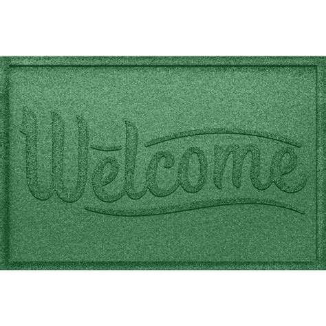 Green Welcome Mat by Aqua Shield Simple Welcome Light Green 24 In X 36 In