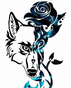 Blue Rose the Wolf has returned in tattoo form! | Tribal ...