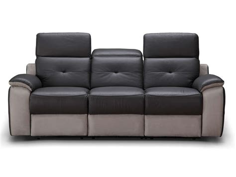 canape relax electrique conforama canapé fixe relaxation électrique 3 places en tissu orlando coloris gris vente de canapé droit
