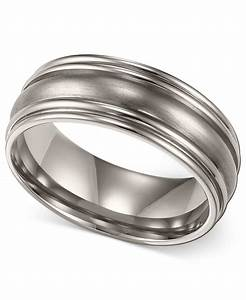 macy39s men39s titanium ring comfort fit wedding band 7mm With macys mens wedding rings