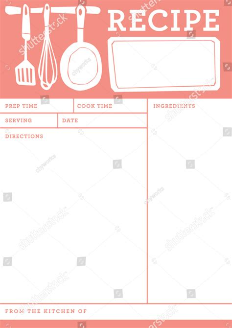 restaurant recipe card templates designs psd ai