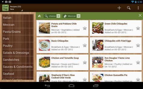 cheftap recipe app android apps  google play