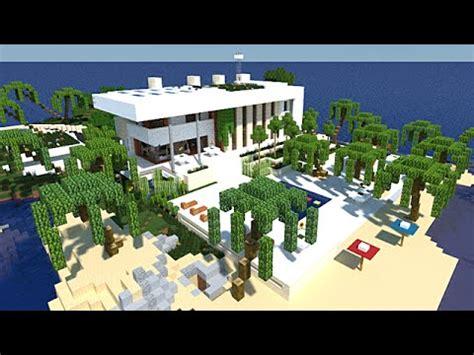Moderne Häuser Mit überdachter Terrasse by Minecraft Maison Moderne Avec Enorme Terrasse