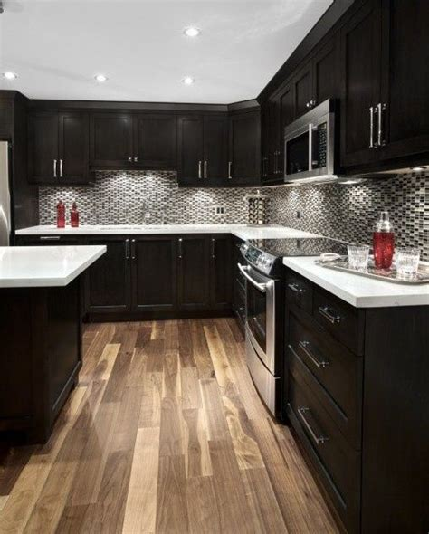 espresso kitchen cabinets with light floors espresso cabinets all home decor great ideas