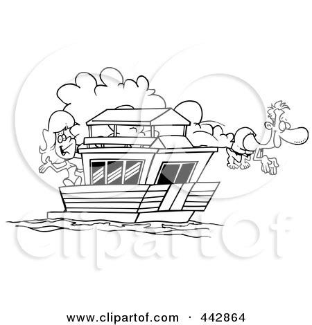 House Boat Drawing by House Boats Clipart Clipground
