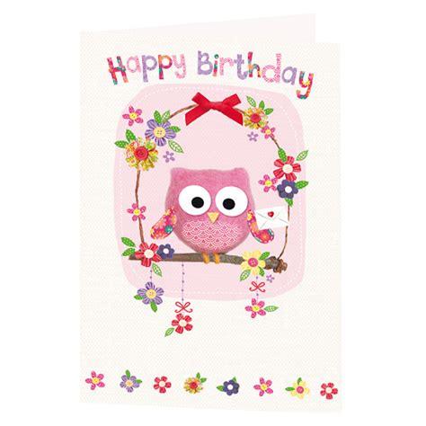 Happy Birthday Owl Images Owl Birthday Card Greeting Cards