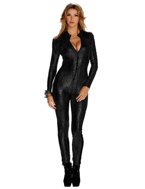 leather jumpsuits vinyl leather jumpsuit 2015 fashion black gold