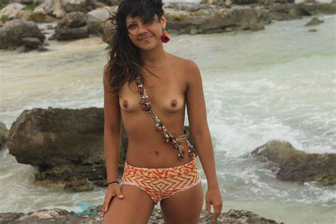 Topless By The Sea Shore March Voyeur Web Hall