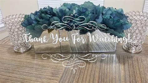 dollar tree diy mirror flower box centerpiece youtube