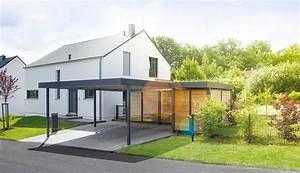Einzelcarport Mit Geräteraum : carport von siebau die modernen carports aus stahl siebau ~ Buech-reservation.com Haus und Dekorationen