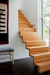 Escalier Droit Bois : 43 photospour fabriquer un escalier en bois sans efforts ~ Premium-room.com Idées de Décoration