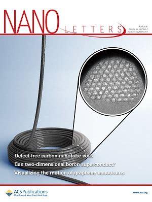 Nano Letters Cover Letter by Ado J 243 Sbpmat Sociedade Brasileira De Pesquisa Em