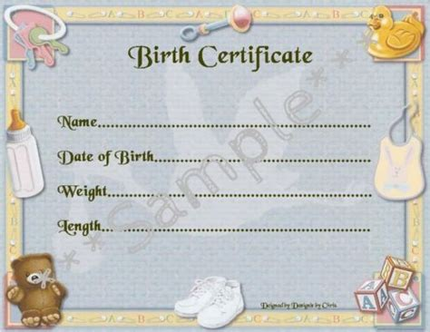 baby doll birth certificate template blue boy birth certificate certificates 4 reborn baby approx 7 quot x 5 quot ebay