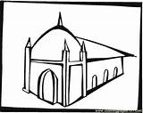 Synagogue Coloring Coloringpages101 sketch template