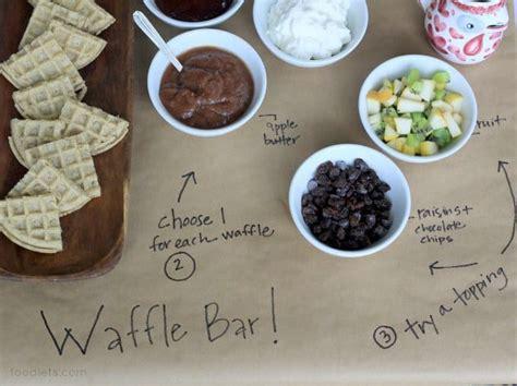 The Perfect 3-step Waffle Bar Setup For Kids