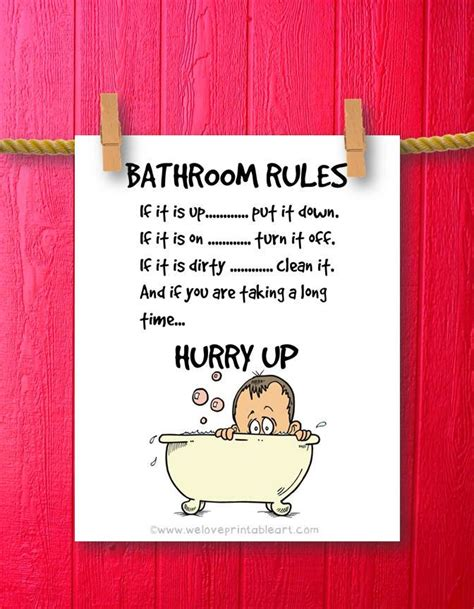 kids bathroom art humor decor bathroom by weloveprintableart