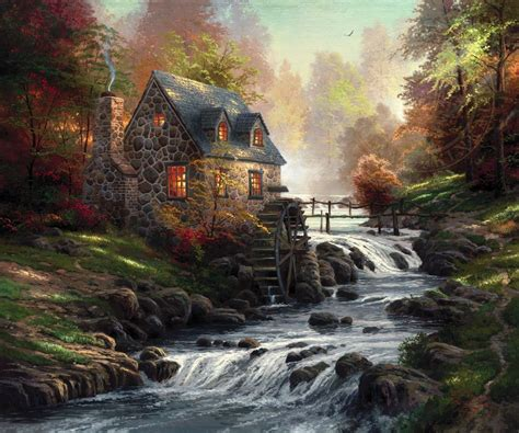 the painter of light cobblestone mill limited edition art the thomas
