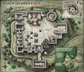 Dungeons and Dragons Castle Maps