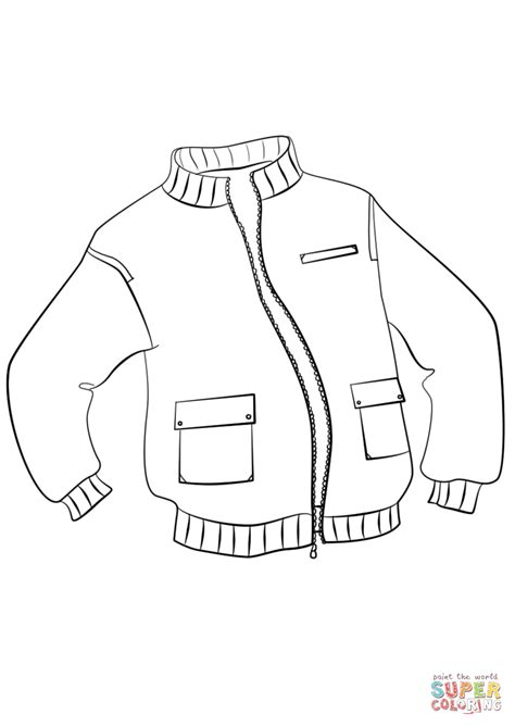 jacket coloring page  printable coloring pages