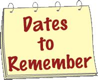 Image result for dates to remember images