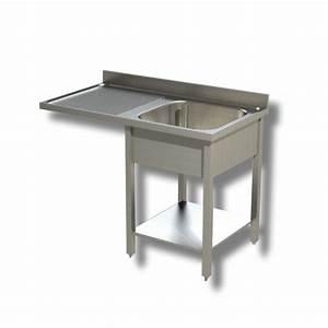 Lave Vaisselle Inox Pas Cher : plonge inox 1 bac gouttoir gauche et passage lave ~ Dailycaller-alerts.com Idées de Décoration