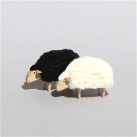mouton miniature deco blanc objets decoration design