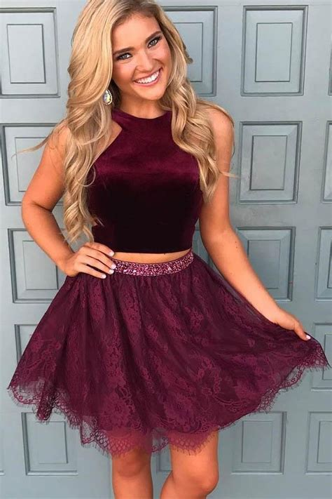 35 Modern Casual Homecoming Short Dress Ideas | Two piece ...