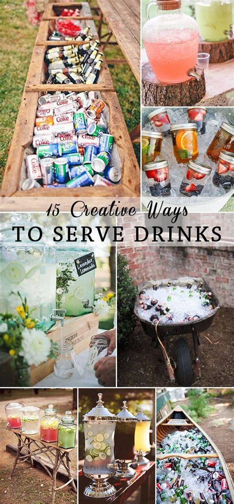 15 creative ways to serve drinks for outdoor wedding ideas 15 creative ways to serve drinks for outdoor wedding ideas