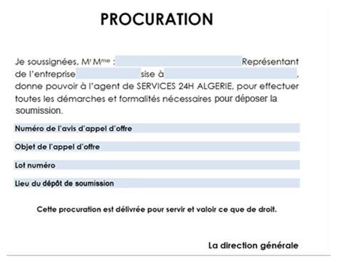 modele procuration pour recuperer un colis document