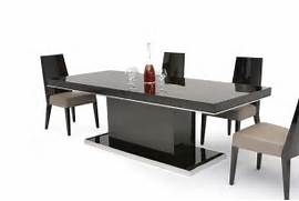 Dining Set Bench Style by B131T Modern Noble Lacquer Dining Table