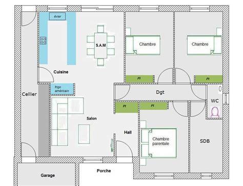 plan maison 100m2 plein pied 3 chambres avis pour maison plain pied 35 messages