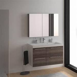 Meuble de salle de bains remix blanc 106x485 cm 4 for Meuble salle de bain collection remix