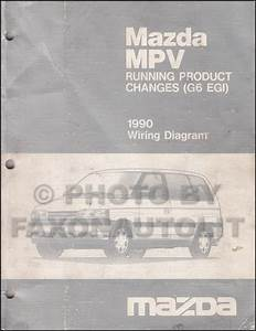 1990 Mazda Mpv Repair Shop Manual Original