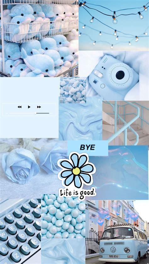 blue aesthetic background biru warna aqua kertas dinding