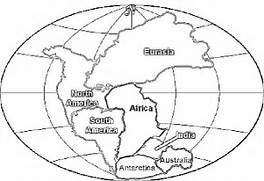 Pangaea Map Black And White