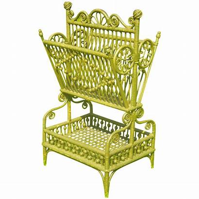 Sheet Stand Wicker Victorian Ornate Antique Woven