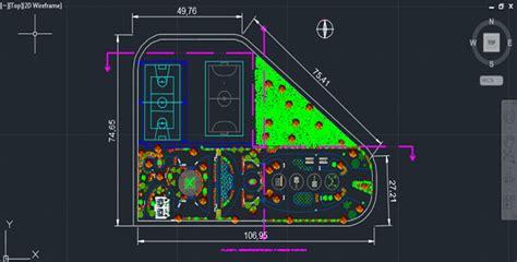 bloc cuisine autocad park with sports fields autocad drawing cadsle com