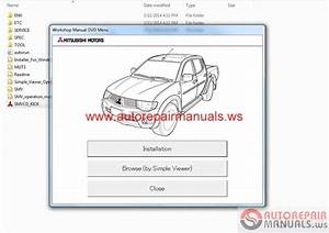 Mitsubishi L200 2015 Service Manual Cd  Triton