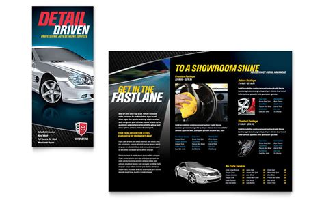 auto detailing tri fold brochure template word publisher