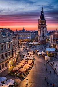 view of square in krakow from an office window
