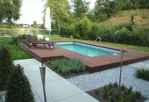 Pool Im Garten Gestalten Mit Holz by Gartengestaltung Mit Pool Bilder Nowaday Garden