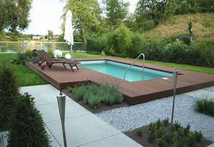 gartengestaltung mit pool bilder nowaday garden With französischer balkon mit pool im garten selber bauen