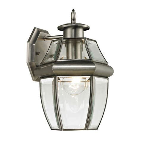 titan lighting ashford  light outdoor brushed nickel