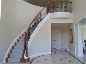Chair Lifts For Stairways by Wrought Iron Balustrade On A Curved Staircase