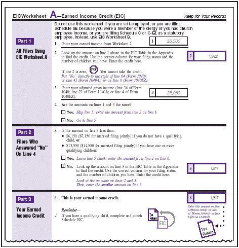 eic worksheet