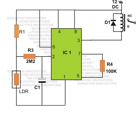how to make a light activated day switch circuit